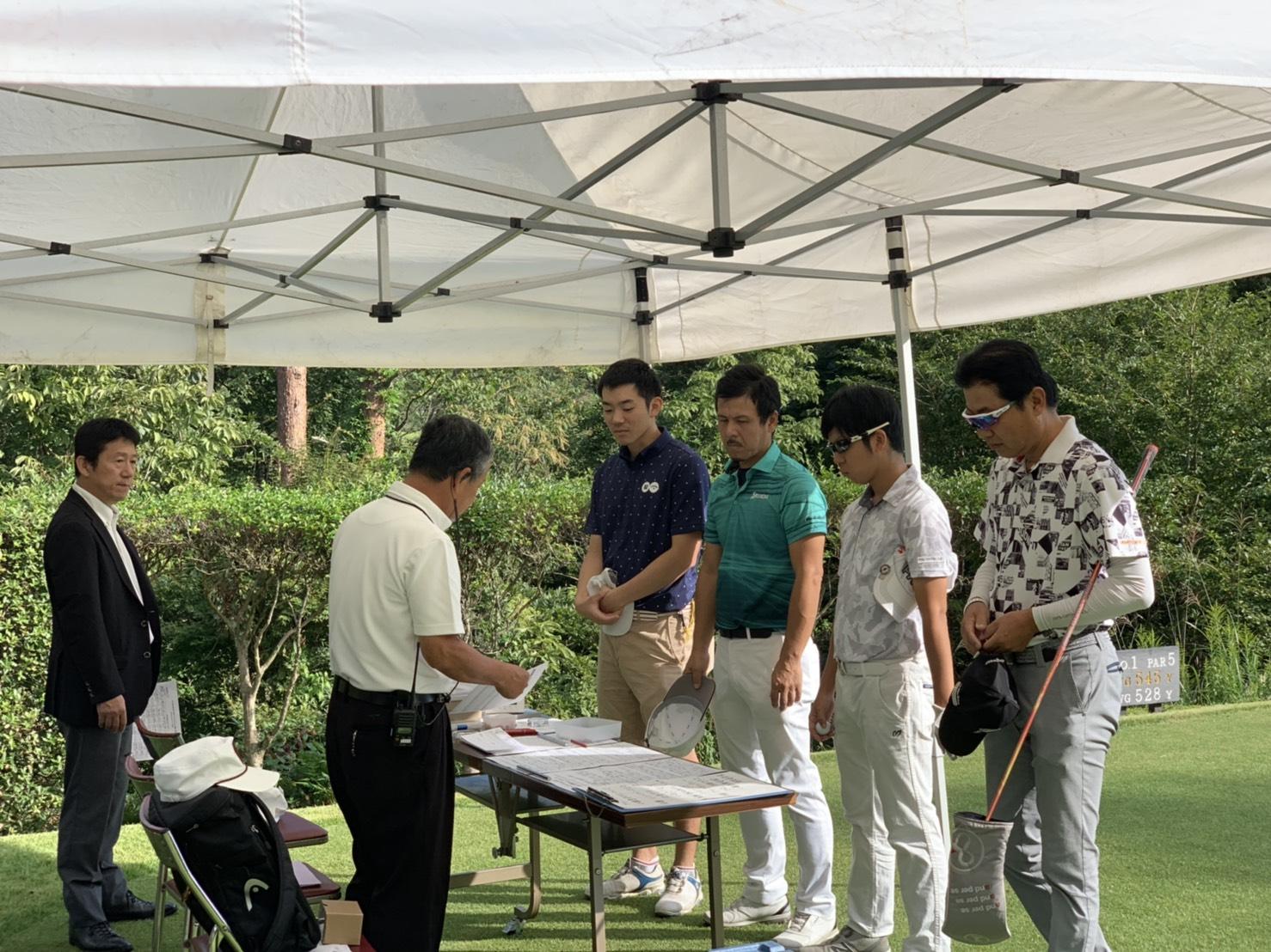 中部インタークラブゴルフ競技の結果